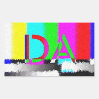 Le DA colorent l'autocollant de charge statique de Sticker Rectangulaire