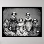 Le daguerréotype 1845 de soeurs de Clark Poster