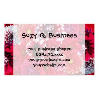 Le dahlia magenta rose audacieux fleurit le carte de visite standard