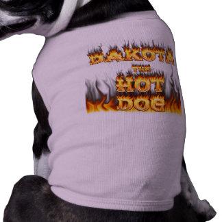 Le Dakota le feu de hot-dog et la chemise de flamm Manteaux Pour Toutous