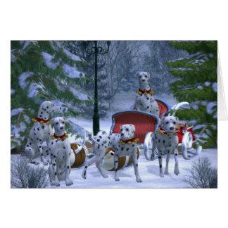 Le Dalmate de renne poursuit la carte de voeux de