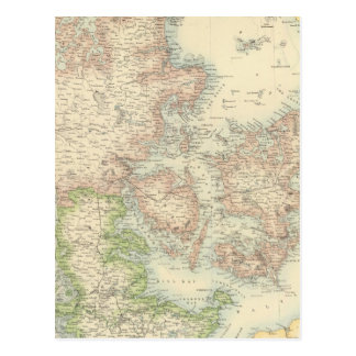 Le Danemark avec Schleswig et le Holstein Carte Postale