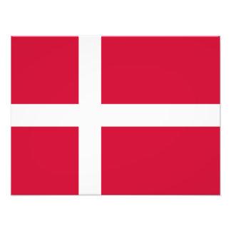 Le Danemark - drapeau danois Tirages Photo