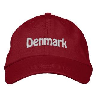 Le Danemark. Fierté danoise ! Casquette Brodée