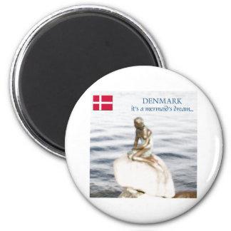 le Danemark Magnet Rond 8 Cm