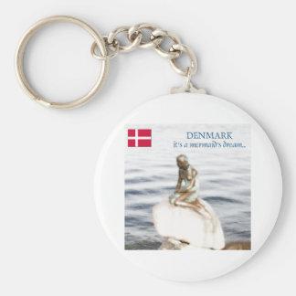 le Danemark Porte-clé Rond