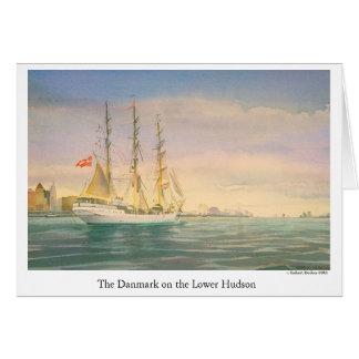 Le Danmark sur le Hudson inférieur Carte De Vœux