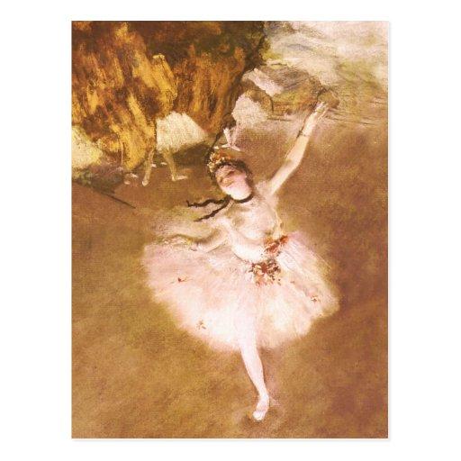 Le danseur classique dégazent la peinture impressi carte postale