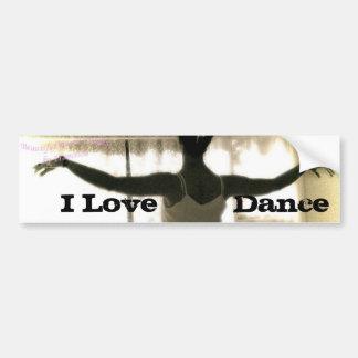 Le danseur, j'aime   la danse autocollant pour voiture