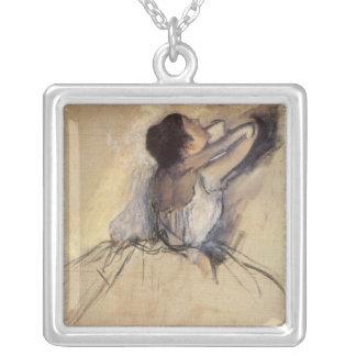 Le danseur par Edgar Degas, art vintage de Pendentif Carré