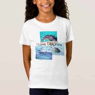 """Le dauphin badine le T-shirt """"que j'aime des"""