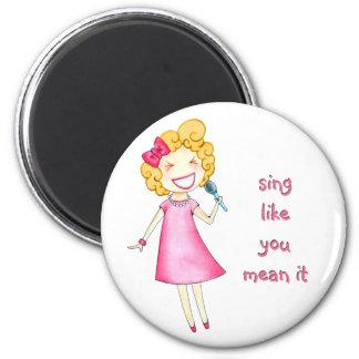 Le ~ de LeLe chantent Magnet Rond 8 Cm