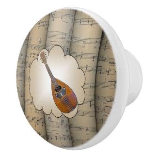 Le ~ de nuage de ~ de mandoline a roulé le ~ bouton de porte en céramique
