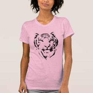 Le débardeur des femmes de pochoir de tigre