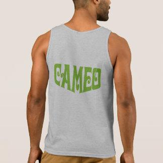 Le débardeur des hommes avec le logo vert de camée