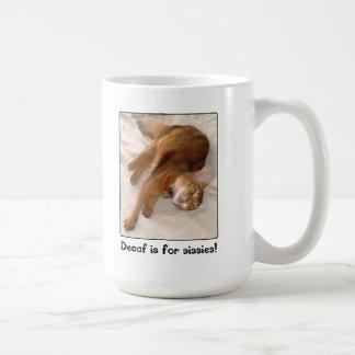Le Decaf est pour la tasse de Kitty de poules