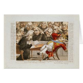 Le décret impérial à George III Carte De Vœux