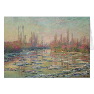 Le dégel sur la Seine, près de Vetheuil, 1880 Carte De Vœux