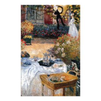 Le déjeuner par Claude Monet Papier À Lettre Personnalisé