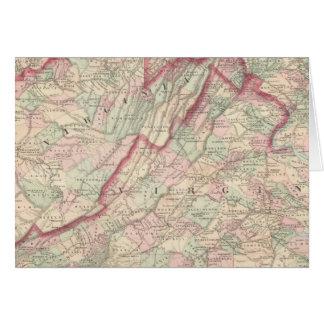 Le Delaware, le Maryland, la Virginie, la Virginie Carte De Vœux