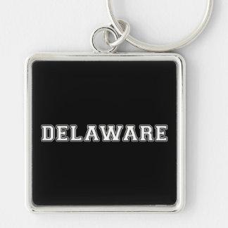 Le Delaware Porte-clé Carré Argenté