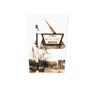 Le dépôt Ann Arbor Michigan de bière Toiles Tendues Sur Châssis