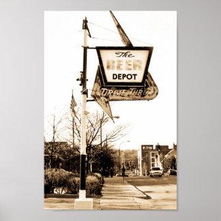 Le dépôt de bière d Ann Arbor Michigan Affiches