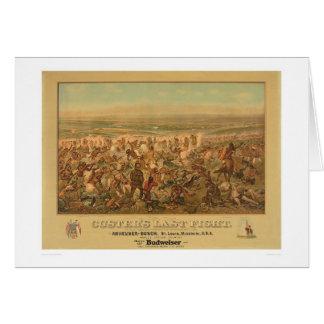 Le dernier combat de Custer (2610A) Carte De Vœux
