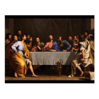 Le dernier dîner avec des disciples carte postale