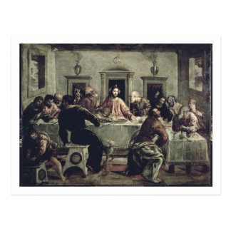 Le dernier dîner (huile sur la toile) 2 carte postale