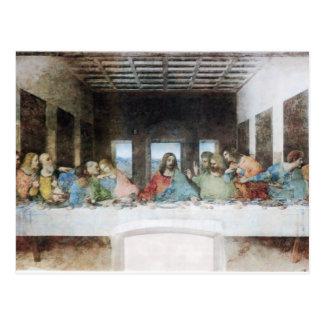 Le dernier dîner par la carte postale de da Vinci
