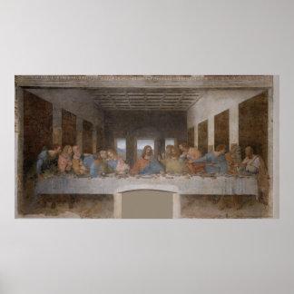Le dernier dîner/Última Cena par Leonardo da Vinci Affiche