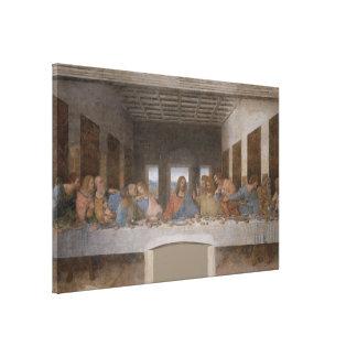 Le dernier dîner/Última Cena par Leonardo da Vinci Toile Tendue