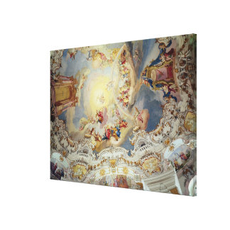 Le dernier jugement, peinture de plafond toiles