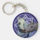 Le désert Jewels le keychain Arabe de chevaux Porte-clefs
