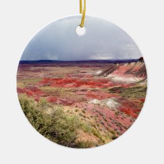 Le désert peint ornement rond en céramique