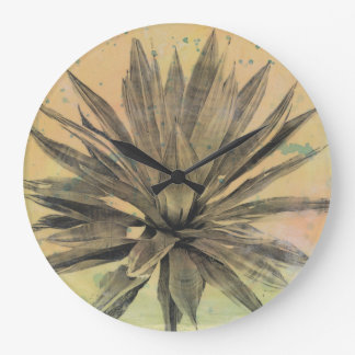 Le désert rêve la plante verte de   grande horloge ronde