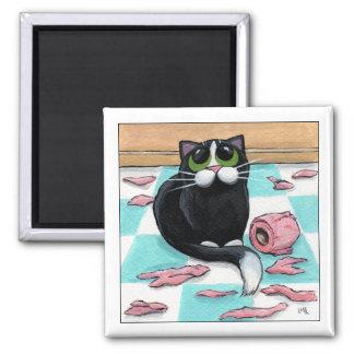 Le destructeur de papier - aimant de chat