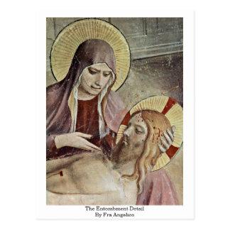 Le détail de mise au tombeau par ATF Angelico Carte Postale