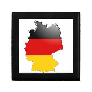 Le Deutschland (Allemagne) et le drapeau Petite Boîte À Bijoux Carrée
