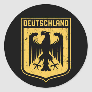 Le Deutschland Eagle - manteau des bras allemand Sticker Rond