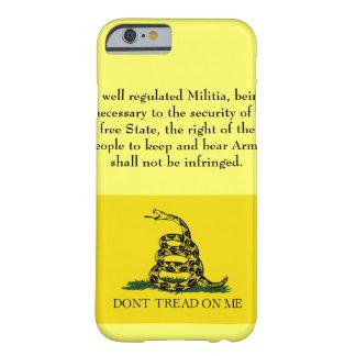 Le deuxième amendement - ne marchez pas sur moi coque barely there iPhone 6