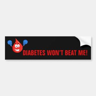 Le diabète ne me battra pas autocollant de voiture