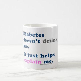 """Le """"diabète ne me définit pas"""" tasse"""