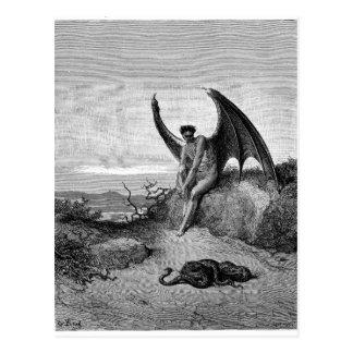 Le diable, Gustave Dore Carte Postale