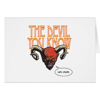 Le diable que vous connaissez carte de vœux