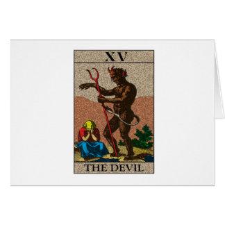 Le diable - tarot carte de vœux