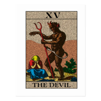 Le diable - tarot carte postale