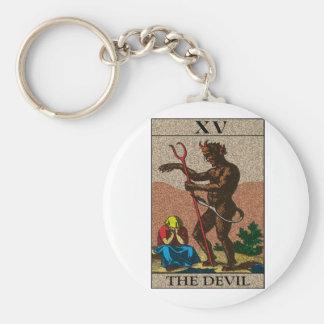 Le diable - tarot porte-clé rond