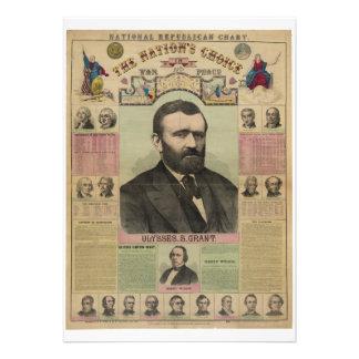 Le diagramme républicain Ulysse S Grant par M T Invitations Personnalisées